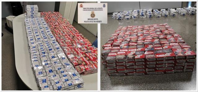 Las 2.448 cajetillas han sido incautadas cuando iban a introducirse en Mallorca (Foto; Policía Nacional)