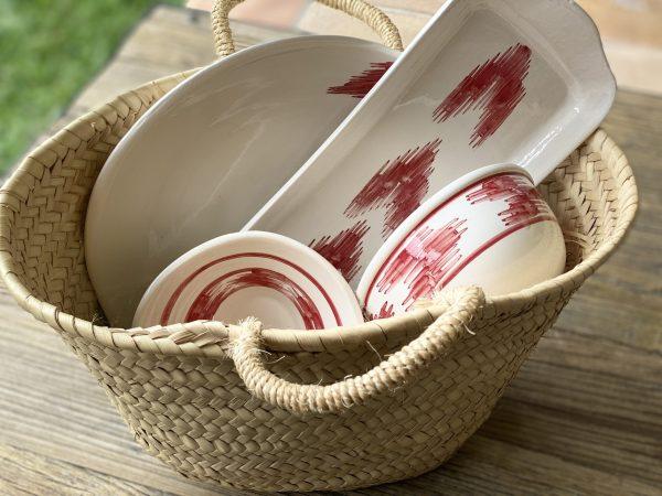 cesta-ceramica-lenguas-rojas