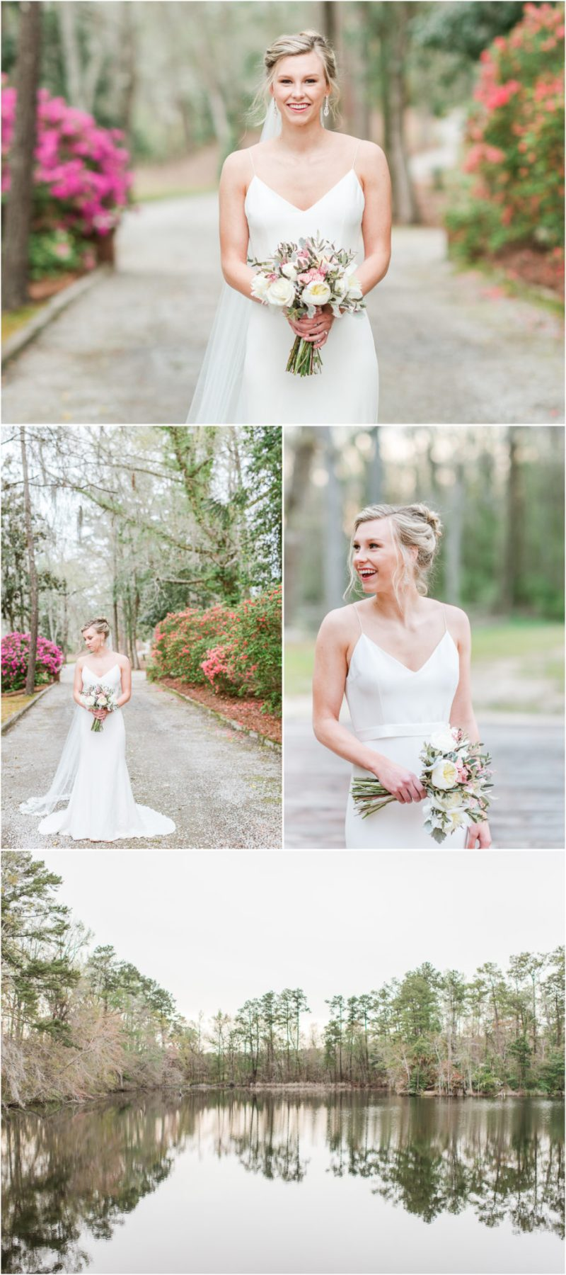 Millstone at Adams Pond Bridal Session in Columbia, SC