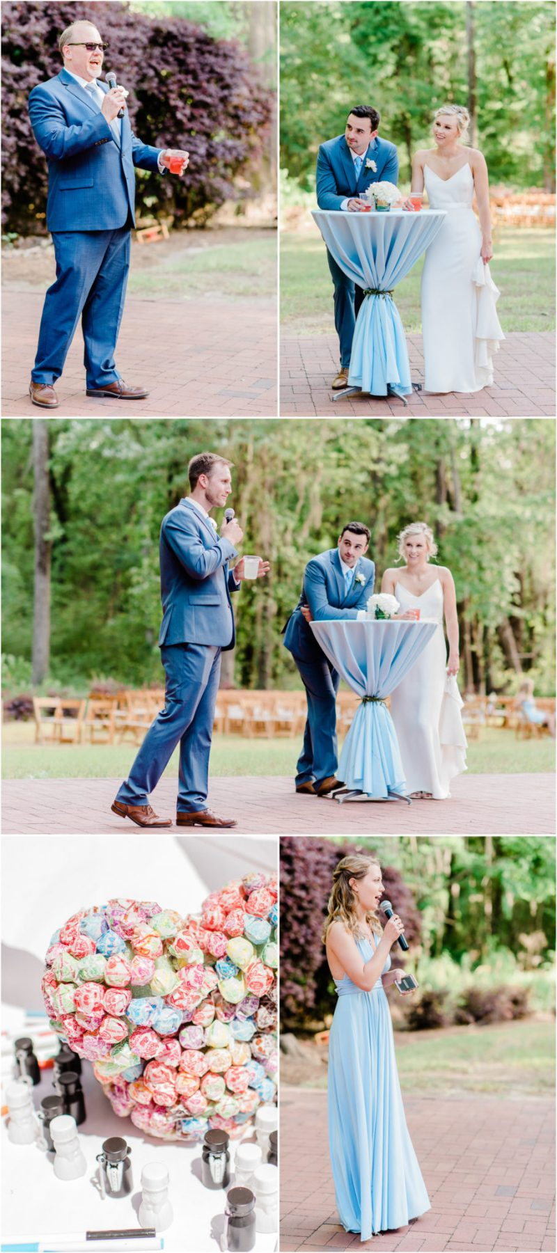 Millstone at Adams Pond Wedding in Columbia, SC Reception