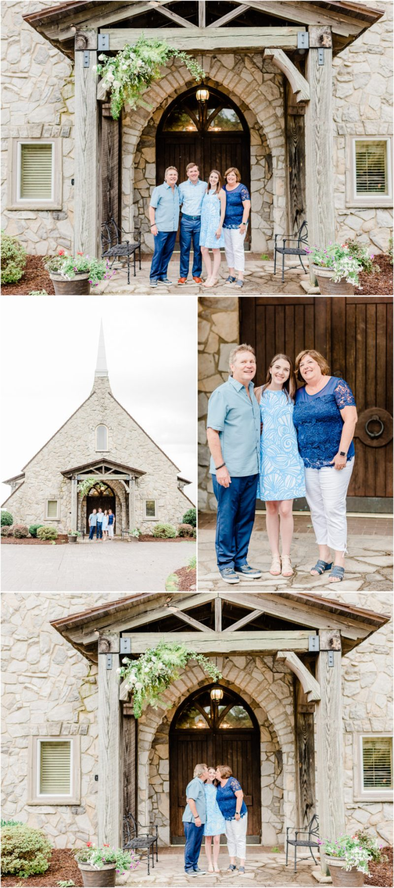 Glassy Chapel Family Session at the Cliffs