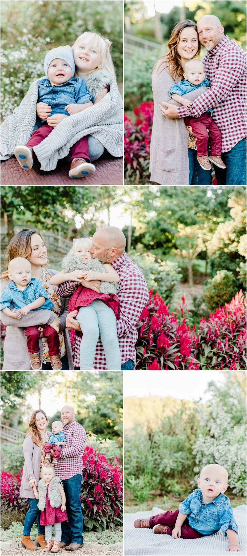 Wine Colored Fall Furman Family session in Greenville, South Carolina