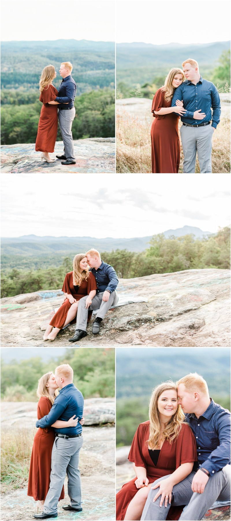 Bald Rock Engagement Session in Cleveland, South Carolina