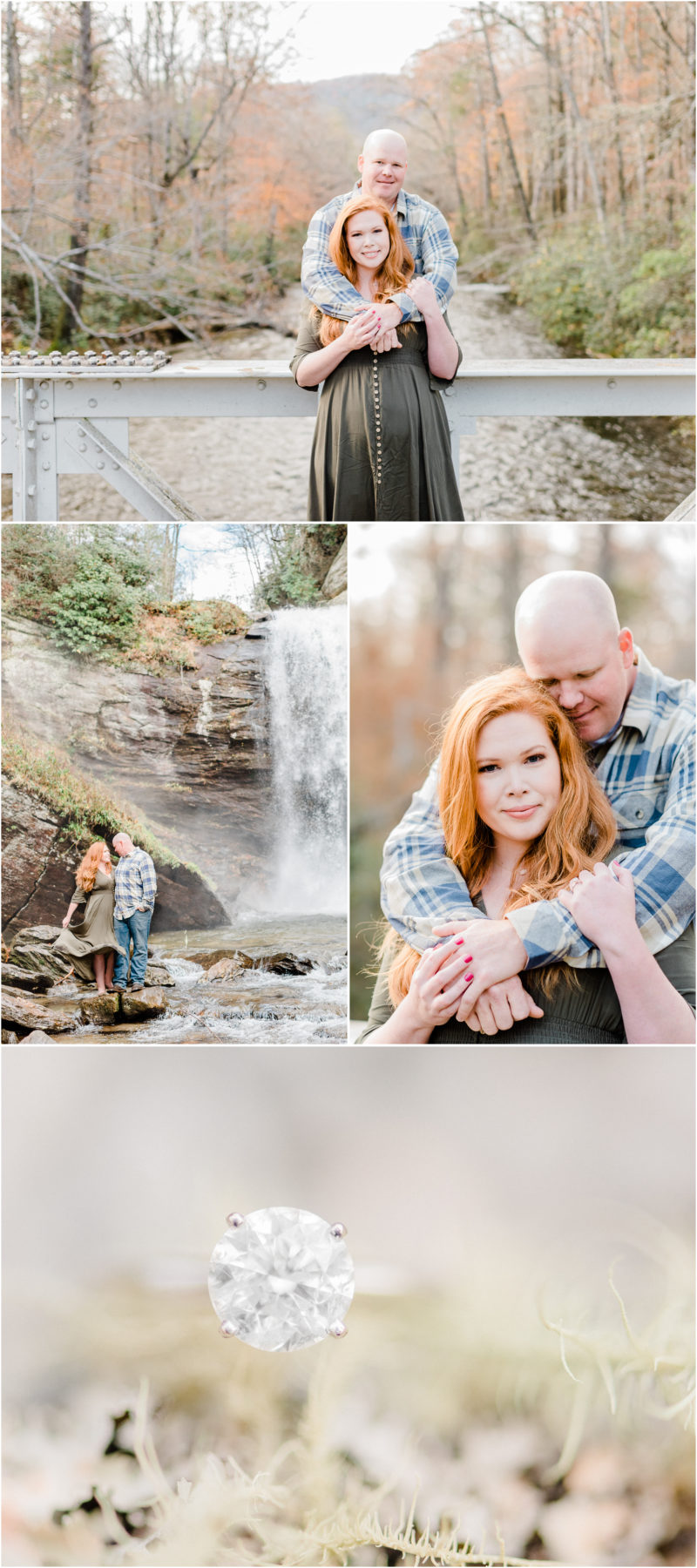 Pisgah National Forest engagement | Looking Glass Falls