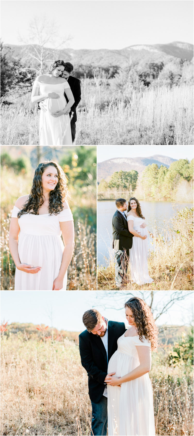 Table Rock Maternity Session in Cleveland, SC