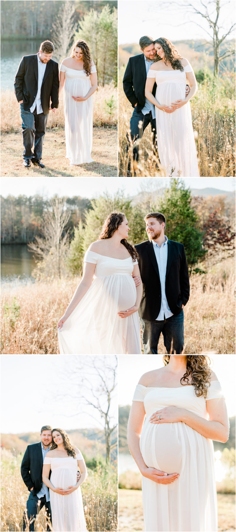Table Rock Maternity Session in the mountains of South Carolina