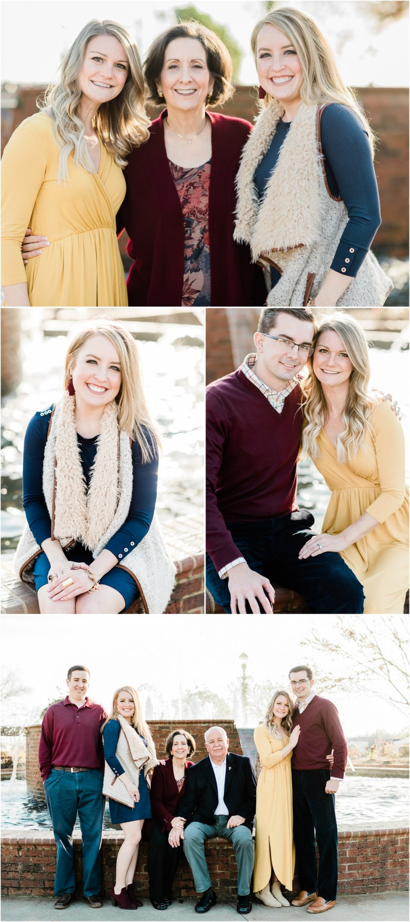 Greer family session in downtown Greer South Carolina
