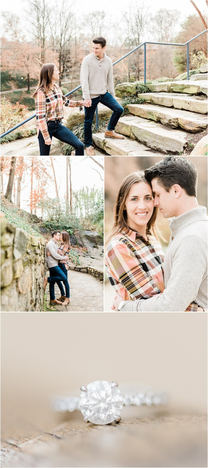 Winter downtown Greenville engagement session