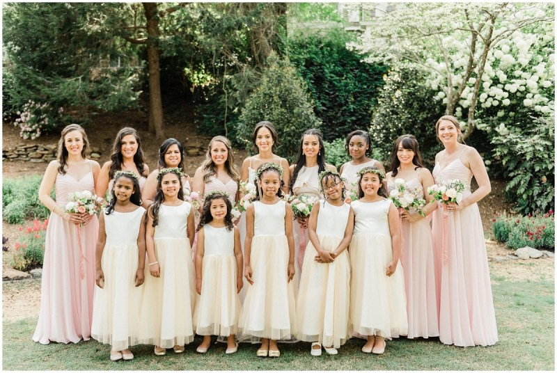 Romantic Blush L Wedding Greenville SC Bridesmaid Photos