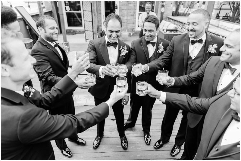 Romantic Blush L Wedding Greenville SC Groomsmen Photos