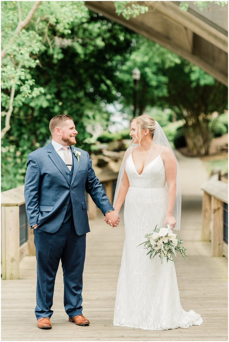 River Walk Bride and Groom Photos in Columbia, SC