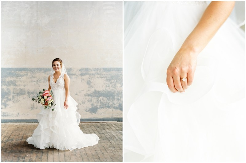 Rustic Mill Bridal Session in Taylors, SC