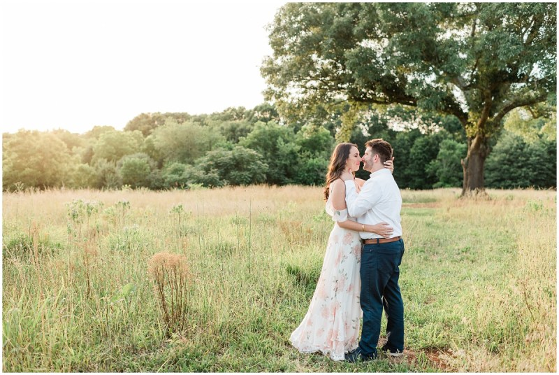 Sunset engagement photos in Greenville South Carolina