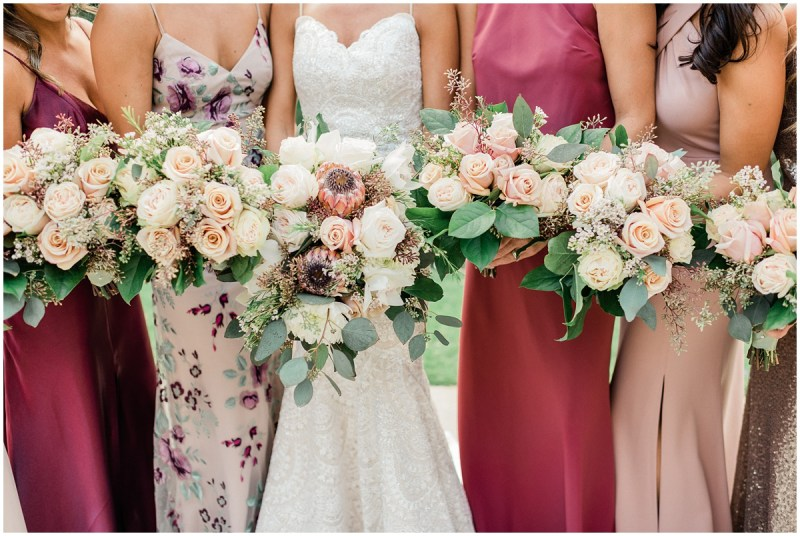 Larkins downtown Greenville wedding | Bridesmaid Bouquets