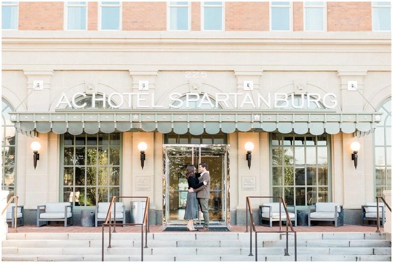 Downtown Spartanburg Engagement | AC Hotel
