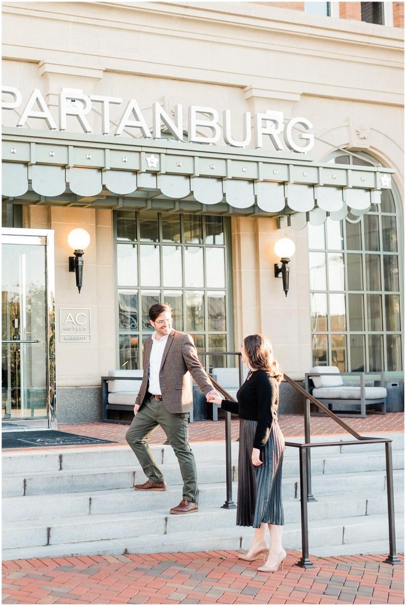 AC Hotel Engagement Photos in Spartanburg