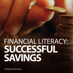magazine graphic: financial literacy: successful savings