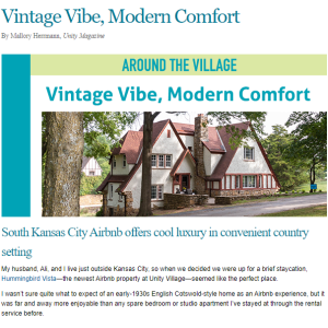 blog graphic: vintage vibe, modern comfort at unity village