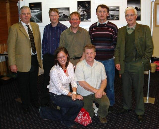 Mallow Camera Club Members - Standing L to R: John Doheny, John Hogan, John Hooton, Seán Murphy & Colman Culhane.  Front: Bríd Coakley & Morgan O'Neill