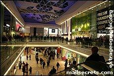 Inside Westfield London shopping centre