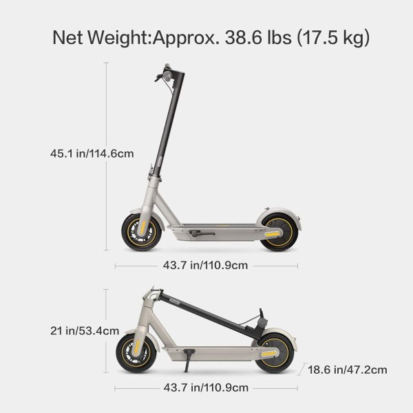 Segway Ninebot MAX Electric Kick Scooter, Max Speed 18.6 MPH, Long-range Battery, Foldable and Portable