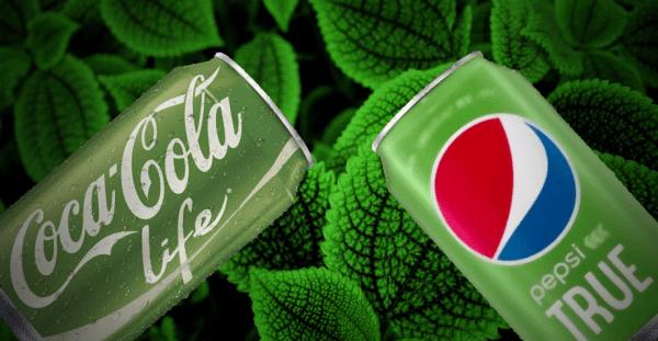 Publicidad de refrescos con estevia