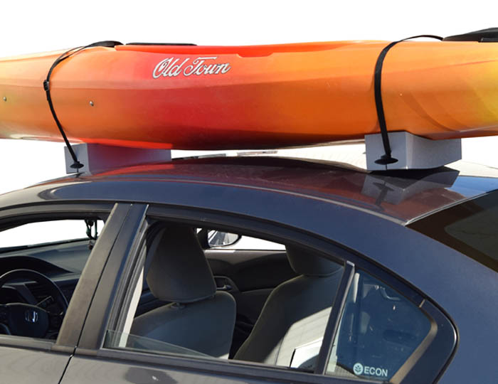deluxe kayak carrier with tie downs