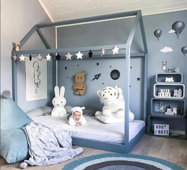 decoración cuarto bebé, deco niños, deco kids, dormitorio montessori