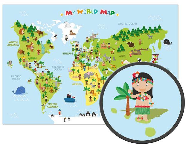 montessori, maloostudio, decoración infantil, mapamundi para niños, decoración de pared, interiorismo, decokids, maternidad consciente