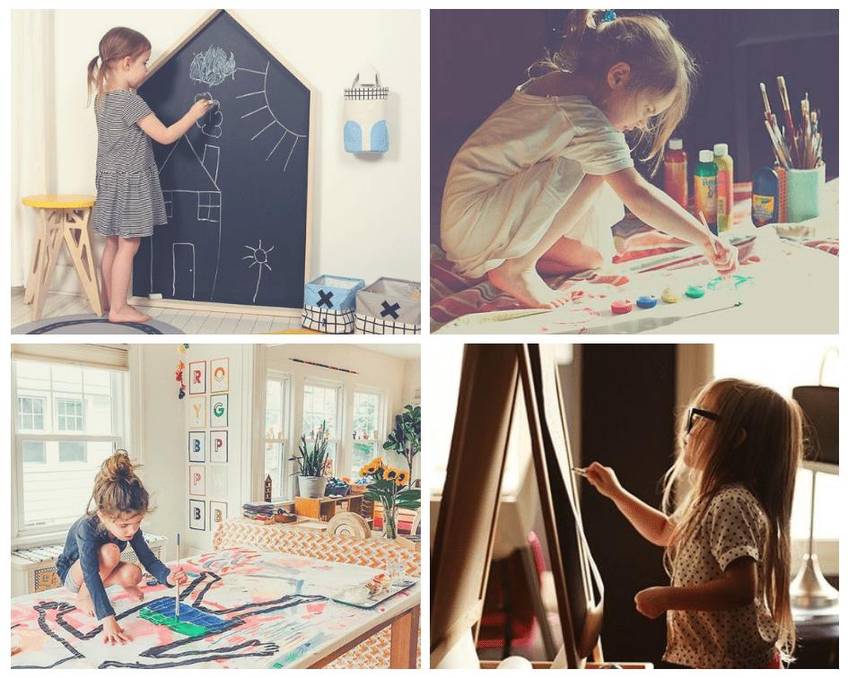 Montessori, decoración infantil, Maloo Studio, decokids, rincon de arte