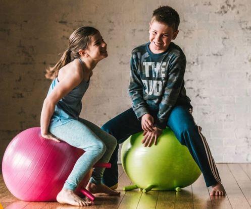 pelotas de equilibrio niños, decoracion infantil, asientos flexibles