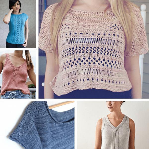 5 modèles de tops gratuits au tricot