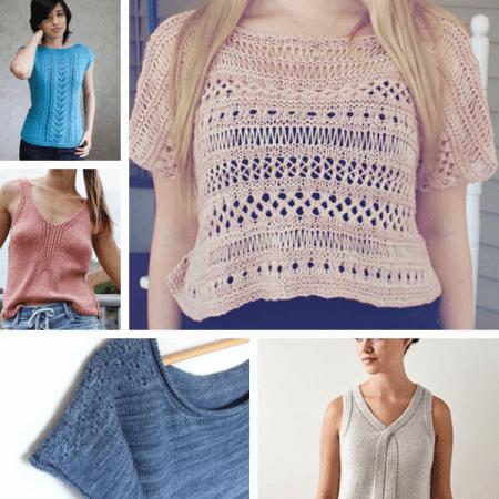 5 modèles de tops  au tricot gratuits
