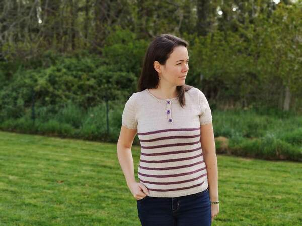 Cattleya Tee, polo au tricot pour femme