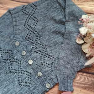 Motacilla, gilet court au tricot