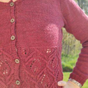 Gilet au tricot pour femme