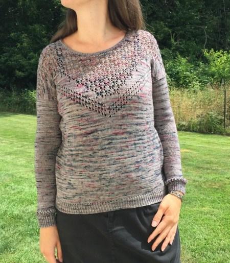 Pull au tricot pour femme