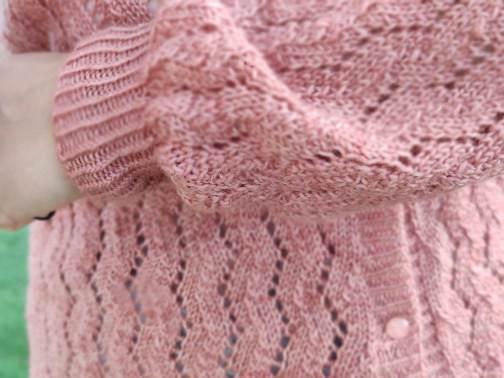 Albizia - gilet en dentelle au tricot pour femme