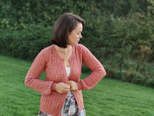Gilet au tricot pour femme en dentelle- Albizia