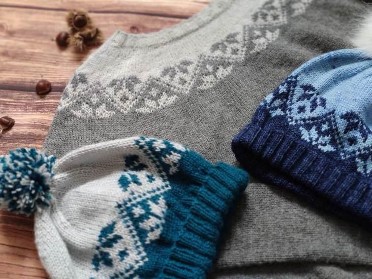 Ixia (hat) & (sweater) - modèle au jacquard