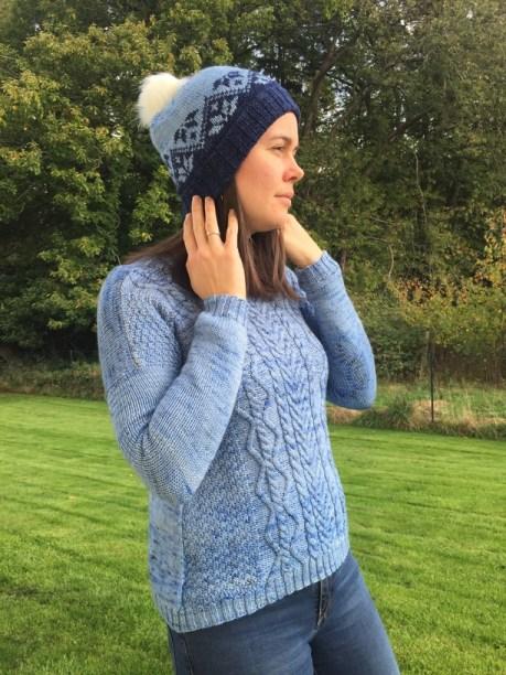 Ixia (hat) - bonnet tricoté en jacquard