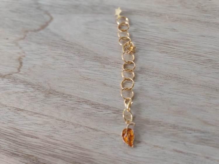 Compte rangs - Feuille orange- Maloraé Designs