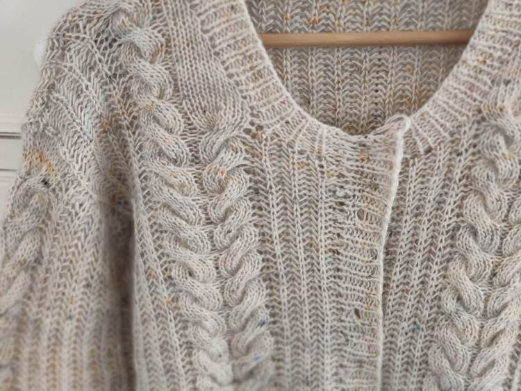 Linen cardigan - Tricot texture - Maloraé Designs