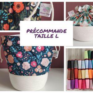 Précommande Taille L - Panier projets tricot - Maloraé Designs