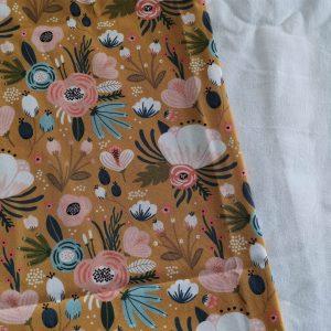 Précommande panier projets tricot - Choix tissu -moutarde - Maloraé designs