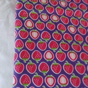 Précommande panier projets tricot - Choix tissu - Fraises - Maloraé designs