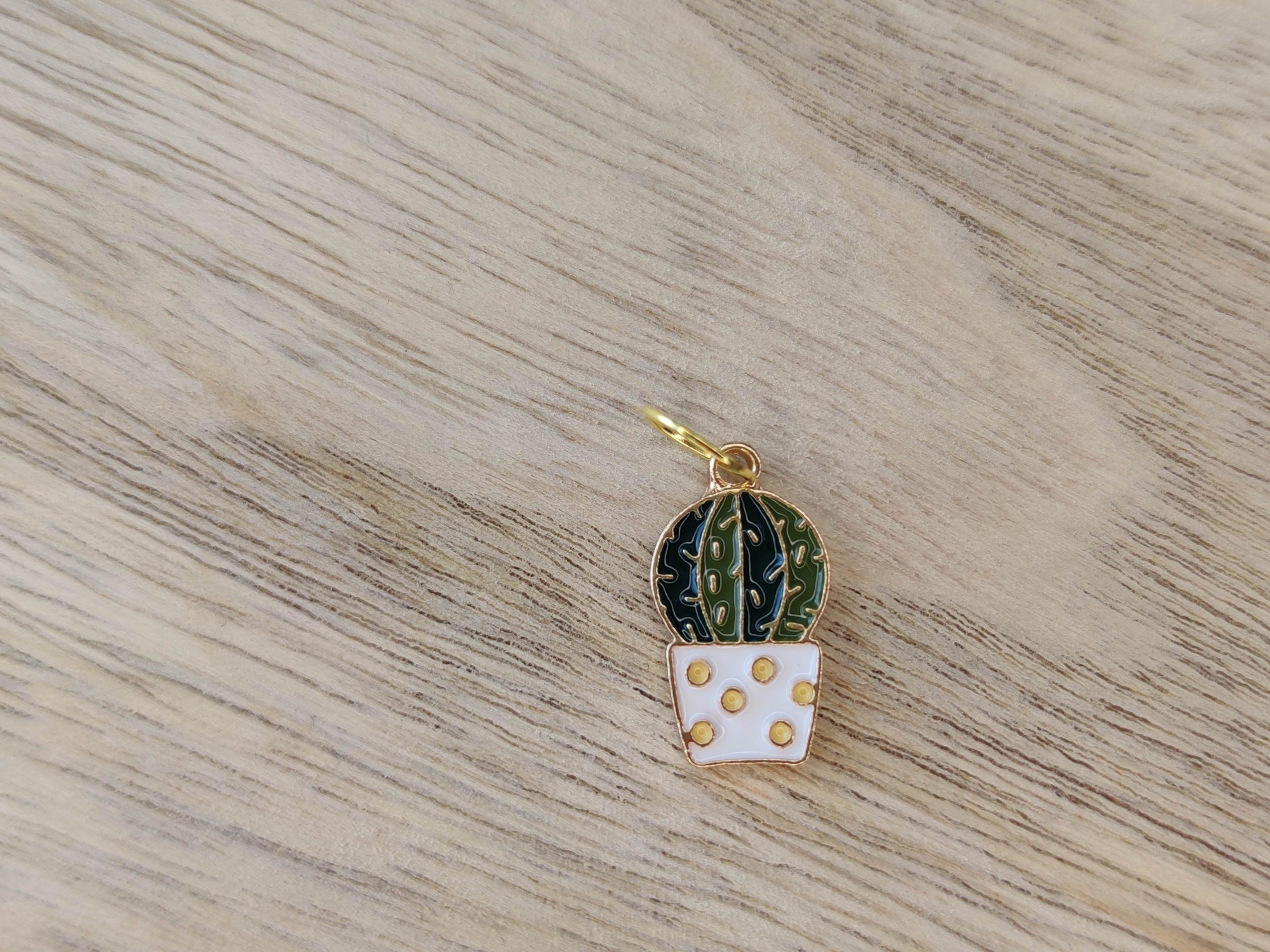 Anneaux marqueurs tricot - Cactus - Accessoires tricot - Maloraé Designs