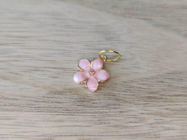 Anneaux marqueurs tricot - Fleurs roses - Accessoires tricot - Maloraé Designs