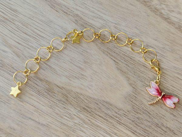 Compte-rangs tricot - Libellule rose - Accessoires tricot - Maloraé Designs