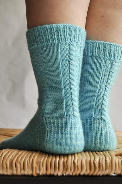 Les chaussettes de la schtroumpfette - Tricot chaussettes - Patrons gratuits - Maloraé Designs